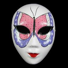 Decorating A Mask Paper Pulp Butterfly Full Face Mask Handmade Decorating Masquerade 25