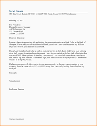 Resume With Cover Letter Resume Cover Letter Sample for Bank Job Eursto 94