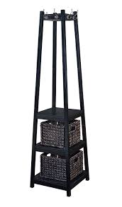 Free Standing Coat Rack With Shelf Amazon H100O Coat Rack Tower Free Standing With 100 Storage Baskets 19