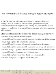 Finance Manager Resume Sample Top10000commercialfinancemanagerresumesamples10000lva100app6100009100thumbnail100jpgcb=10010031007610000753 97