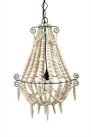 medium white wood beaded chandelier old country french style wooden beads the kings bay
