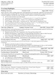 Medical Resume Template Football Coaching Resume Template Samples ...
