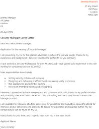 Awesome Collection Of Cover Letter Sample For Security Charming