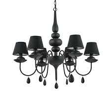 black and white chandelier satin black 6 light metal chandelier with black shades and velvet chain