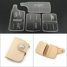 short wallet template tools diy leather