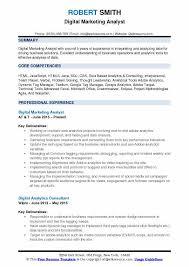 Analytics Resumes Digital Marketing Analyst Resume Samples Qwikresume