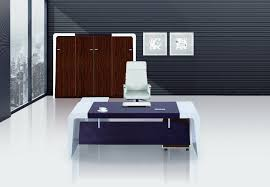 white wood office furniture. Designer Office Table L Shape White Wooden Desk Black Leather Wheeled Chairs Grey Wall Paint Color Wood Furniture