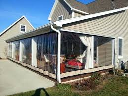 clear plastic enclosures for outdoors vinyl curtains patio walls canada