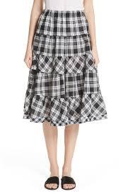 Designer Plaid Skirt Tricot Comme Des Garçons Tiered Plaid Skirt Nordstrom