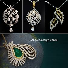enticing 18k diamond pendants 22kgolddesigns