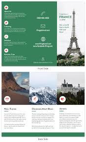 France Tri Fold Travel Brochure Template Venngage