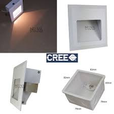 4pcs ac100 to ac240v pvc wall box concrete wall recessed lighting white square led foot lamp