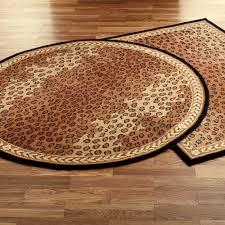 Leopard Print Bath Rug Bathroom Round Formidable Rugs Zhydoor