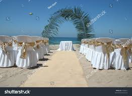 beach wedding chairs. Mexican Beach Wedding With Chairs Alter And Aisle