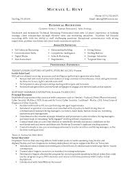 Resume Example 57 Recruiter Resume Sample Hr Recruiter Resume