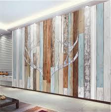 Custom 3d Foto Behang Muurschildering Woonkamer Retro Houten Gewei