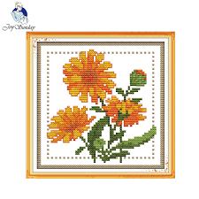 Chart Cross Stitch Free Joy Sunday Floral Style Twelve Months Flower October Design Chart Free Printable Cross Stitch Patterns Kits For Diy Craft Gifts