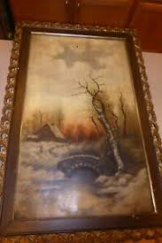 "Antique Oil PAINTING Signed Gertrude Johnson 1893 Original Frame 18x30"" |  eBay"