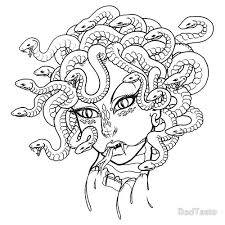 Small Picture easy medusa drawing coloring pagesjpg 500500 Mythology and