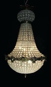 french empire chandelier assembly crystal antique