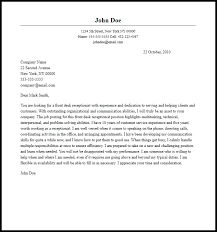 Gallery Of Professional Front Desk Receptionist Cover Letter Sample