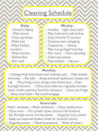 Apartment Chore Chart Cleaning Schedule Never Settling