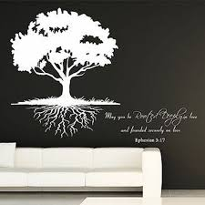 Small Picture May You Be Rooted DeeplyQuote and Roots Tree Vinyl Wall Decal