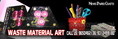 WASTE MATERIAL ART COURSES AT HOME IN DELHI
