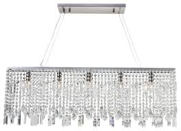 40 sofia glass crystal rectangular chandelier brushed nickel