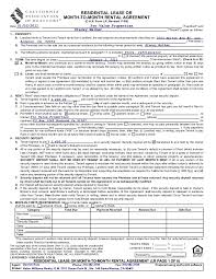 Leasing Agreement Sample New California Association Of Realtors Lease Form Erkal