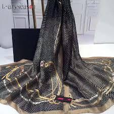 2019 Fashion Gorgeous Silk <b>Scarf Luxury Women</b> Brand <b>Scarves for</b> ...
