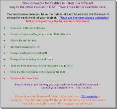 Mr Richmonds  Homework pages   Design   Technology On The Web