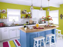 Bright Kitchen Creative Bright Kitchen Design With Blue Kitchen Island And