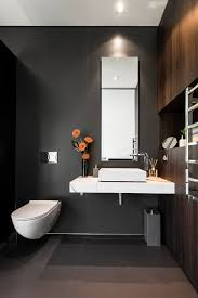 guest bathroom ideas. Adorable Design Of The Gray And White Bathroom With Black Grey Wall Ideas Added Guest