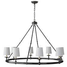 devon 8 light chandelier oiled bronze
