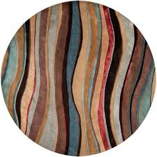 white round area rug. Alameda Mushroom New Zealand Wool 8 Feet Round Area Rug White G