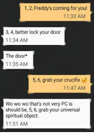 lock your door. Texts, The Doors, And Freddy: 1, 2, Freddy\u0027s Coming For You Lock Your Door