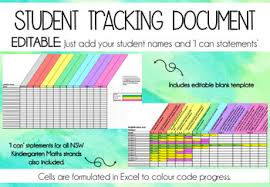 Track Progress In Excel Editable Student Tracking Excel Document