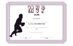 Football Mvp Certificate Template Free 3 One Package