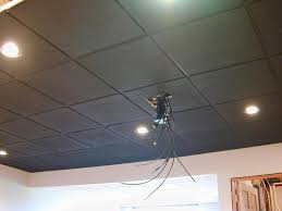 replacing ceiling tiles with drywall