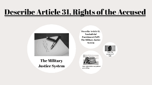 Describe Article 31 Rights Of The Accused By James Weaver