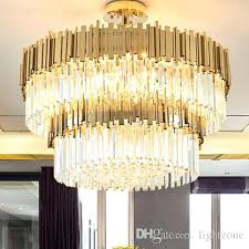 artistic lamps village style artistic led crystal chandelier new classical personality creative simple pendant lamps living