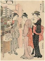 """小学館浮世絵部 on Twitter: """"虫売りビジネスが流行🐞🐝  江戸時代、夏から秋にかけて虫を売り歩く商人がいました。市松模様の屋台に虫籠をたくさんぶら下げて商売します。江戸時代の人々は、虫売りから購入して虫の音を楽しんでいました😌🌱  https://t.co/gYQ1esJWIl ..."""