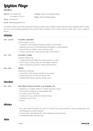 A student resume template that will land you an interview. College Application Resume Template For High School Students