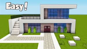 Minecraft Building Designs Step By Step Minecraft How To Build A Small Easy Modern House Tutorial