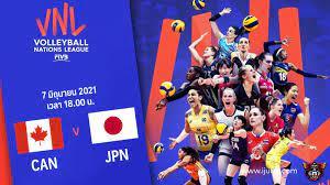 ถ่ายทอดสด วอลเลย์บอลหญิง เนชันส์ลีก 2021 แคนาดา vs ญี่ปุ่น Full HD
