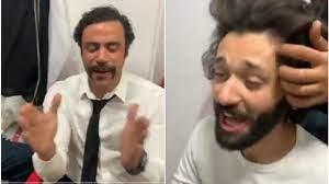 """محمد إمام في """"هوجان"""" ضحك ولعب بصحبة كريم محمود عبد العزيز .. فيديو"""