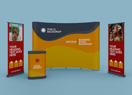 Including multiple different angles and views with clean empty space to add your own design on top of the free mockup. Free Exhibition Trade Show Standing Banner Booth Backdrop Mockup Psd Good Mockups