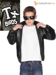 boys official grease t birds jacket childs t