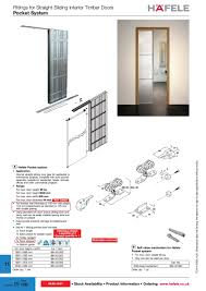 hafele pocket system internal straight sliding door gear for residential commercial projects complete with solid pocket assembly suitable for